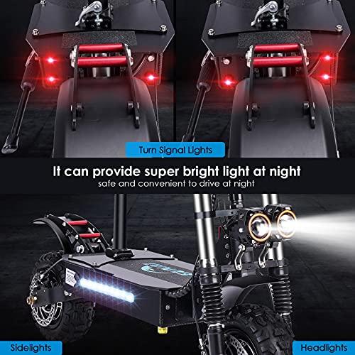 GUNAI Scooter électrique 5600W Double Moteur 60V32Ah Batterie 85 km/h Max 11 Pouces Pneu Scooter de Transport Portable Pliable avec siège Convient aux Amateurs de Tout-Terrain