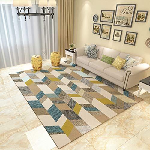 BYGenMai Tapis de Sol Motif géométrique Abstrait Morden Carpet Soft Rug,G,140x200CM