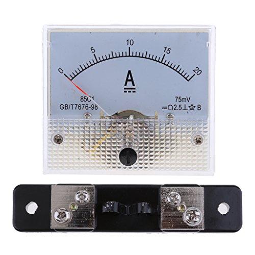LOVIVER DC 20A Analog Amperemeter Amperemeter 0 20A & 75mV Shuntwiderstand