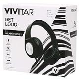 Vivitar Get Loud DJ Wired Headphones w/Mic - Black