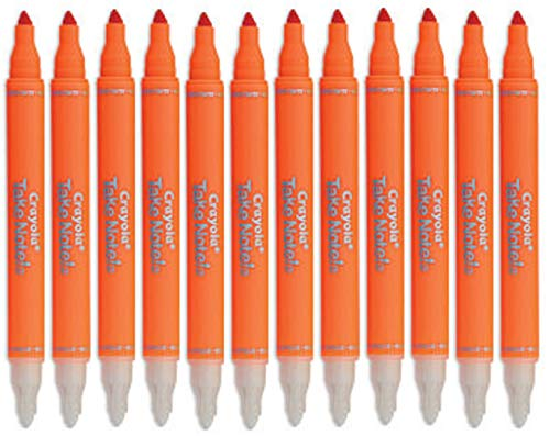 Crayola Take Note Erasable Highlighters, Cool School Supplies, Chisel Tip Markers, 12 Count (Orange)