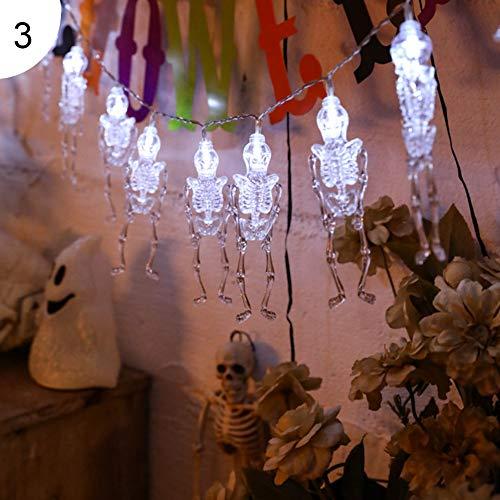 TankMR 3 m 20 LED's pompoen Halloween zonder vlam LED lamp waxinelichtje lamp knipperend helder realistisch met batterijen, Halloween-decoratie
