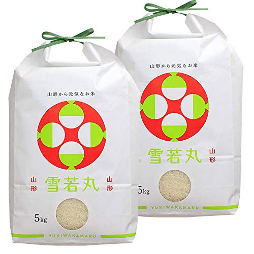 山形県産 雪若丸 令和元年度産 (無洗米に精米, 玄米 10kg(5kg×2袋))