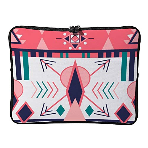 Pink Boho Pattern 17 Inch Protective Laptop Sleeve Ultrabook Notebook Carrying Case Compatible With MacBook Pro MacBook Air Tablet Briefcase Bag