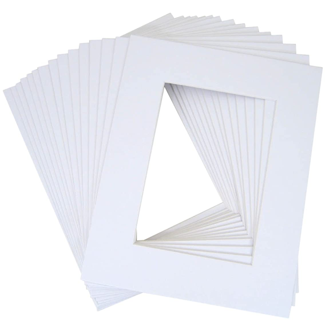 Pack of 10 16x20 White Picture Mats Mattes with White Core Bevel Cut for 11x14 Photo + Backing + Bags