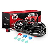 Nilight LED Light Bar Wiring Harness Kit - 2 Leads 12V On Off Switch Power Relay Blade Fuse for Off Road Lights LED Work...