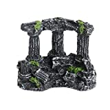 SUCHUANGUANG Resina Roma Cuadrado pilares de Piedra Acuario paisajismo pecera decoración Tri-columnas Rompecabezas