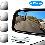 Best Spot Mirrors - 4 Pieces Fan-Shaped Automobile Rear Blind Spot Mirror Review