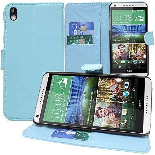 Annart Schutzhülle für HTC Desire 816/816G Dual Sim, Brieftasche, Klappetui für HTC Desire 816/816G Dual Sim, Blau