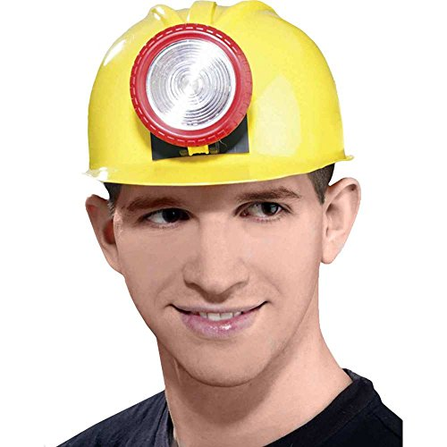 Forum Unisex Novelty Miner's Helmet with Light, Multi, One Size