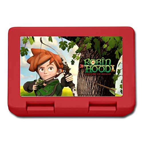 Robin Hood Schlitzohr Von Sherwood mit Bogen Lunchbox, Rot