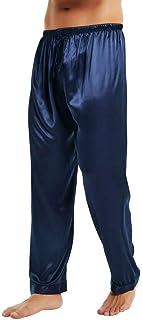 LONXU Mens Satin Pyjamas Pants Sleep Bottoms Lounge Pants S~4XL