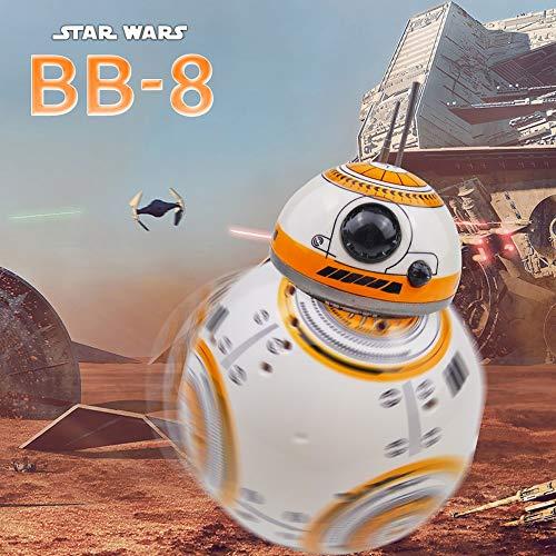 Pinjeer Star Wars BB-8 RC Robot Star Wars BB-8 2.4 GHz Control Remoto Figura Robot de acción Robot de Sonido Inteligente Juguetes Coche para niños 3+