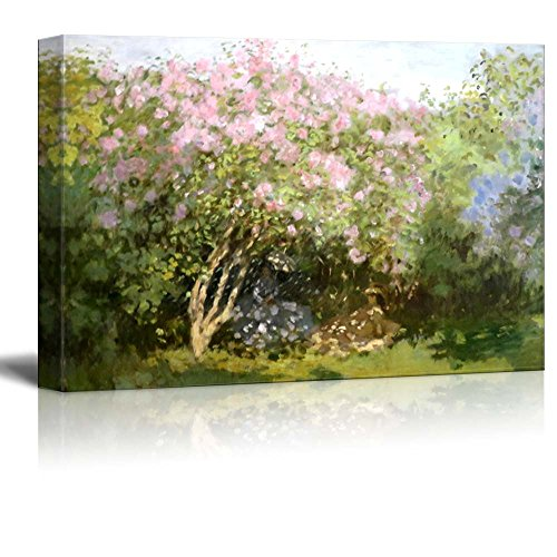 wall26 - Lilacs in The Sun by Claude Monet - Canvas Print Wall Art