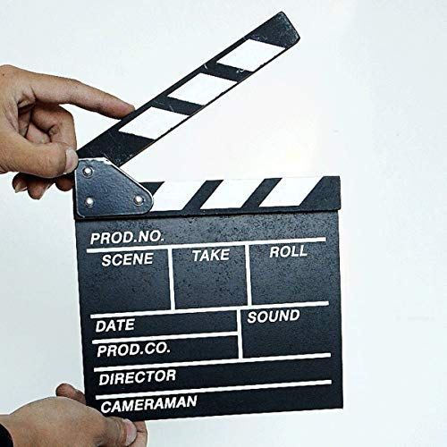 Greatangle Madera 20x20x1.5cm Director Escena de Video Claqueta de Cine TV Claqueta...