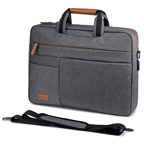 LOVEVOOK Laptop tasche 17-17.3 Zoll Notebook Tasche 17-17.3 Zoll Wasserdicht Aktentasche Herren Schultertasche Macbook Tasche Business Taschen Herren Grau
