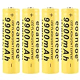 Newgrees Pilas Recargables Bateria 18650 9900mAh 3.7V Li-Ion Pilas 18650 Recargables 1200Ciclos Larga Vida Batería Recargable para Linterna LED de la Linterna del Faro (Cantidad: 2)