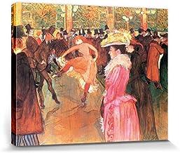 1art1 Henri De Toulouse-Lautrec - Dance In The Moulin Rouge, 1890 Cuadro, Lienzo Montado sobre Bastidor (50 x 40cm)