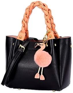 Fashion New Retro Casual Fashion Bills Shoulder Slung Small Handbag Female Cowhide Bag (Color : Black)