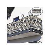 kwbegdv Pantalla de Privacidad de Balcony Shade Net, Protección solar, Valla a prueba de viento e impermeable Patio trasero, Overhouse Garden Shade Sail, Balcony Shield Funda con accesorios 20m Cuerda