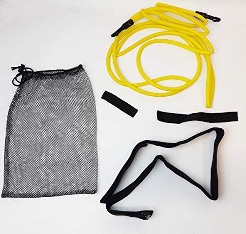 SWIMXWIN Elastico Corto in Lattice per Nuoto stazionario trattenuto corredato di Cintura (per utilizzo in Acqua)