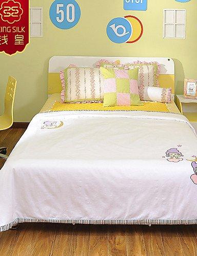 aiur Life Nueva Niños Verano Manta Silk blancas de algodón colcha cama Gemelos Sets, Weiß, 2: Amazon.es: Hogar