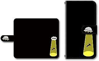Xperia X Performance SO-04H対応 手帳型ケース カメラ穴搭載 ダイアリー スマホカバー レザー製 UFO 【デザインE/ブラック】 エクスペリア SONY ソニー
