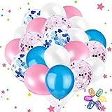 Sunshine smile Ballons Konfetti Luftballon blau Pink Weiss