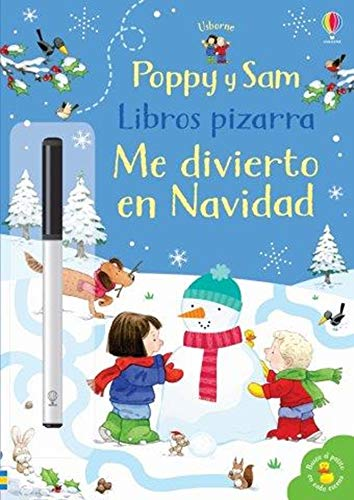 Libro pizarra Me divierto en Navidad