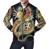 INTERESTPRINT Men's Bomber Jacket Short Blazer Outfit Japanese Style Dragon M from INTERESTPRINT