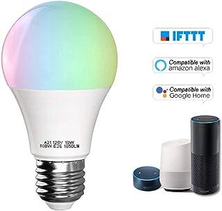 7W RGB W Wifi Smart Light App Telecomando Supporto lampadina per Alexa Home Office AC85-265V E14 Zerone Lampadina a sfera Smart Wifi