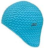 Aqua Speed Gorra de natación   Gorra de baño Deportes   Entrenamiento   natación   Pelo Largo   látex   Bombastic Tic-TAC   Turquesa
