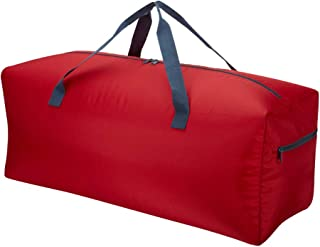 FRADAY 30 Folding Lightweight Travel Duffel Bag Foldable Luggage Bag Carry On Resistant (Red)