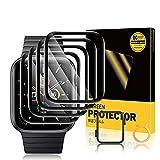 TOPACE 4 Stück Schutzfolie kompatibel mit Apple Watch Series 6/SE/5/4 44mm Folie, 10D-Vollabdeckung weiche Kante Hochauflösende HD Blasenfreie Kratzfeste Bildschirmschutzfolie