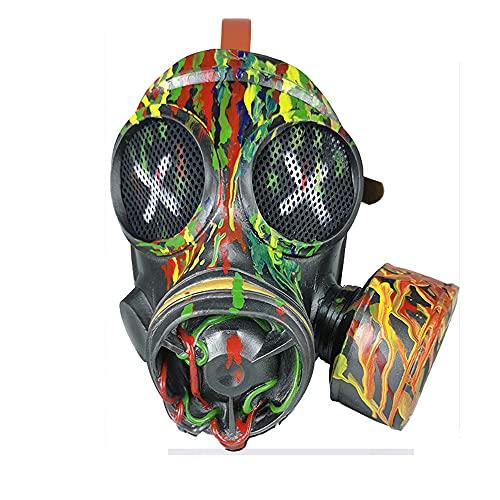 LYTLM Color Steampunk Gas mscara, Plaga Doctor Mscara, Accesorios Unisex, mscara de Halloween, Accesorios de Cosplay, Piel Retro, Carnaval, mscara de Fiesta, Navidad, Pascua,B