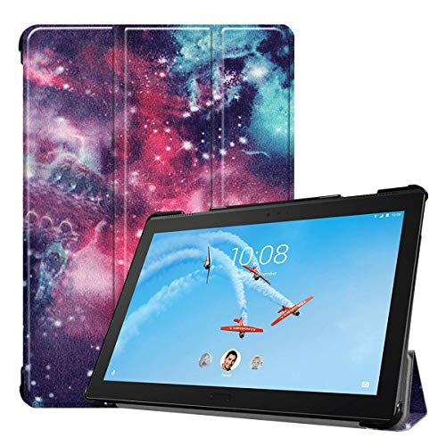 Hfly Suitable for Lenovo Tab P10 Case TB-X705F/N (10.1'), Flip Stand Protective Shell Slim PU Leather Shockproof Case Cover for Lenovo Tab P10 NBAY