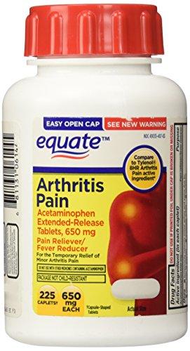 Equate Arthritis Pain Caplets 225ct 650mg, Compare to Tylenol Arthritis Pain