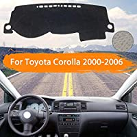 OZLXKNC ダッシュボードカバーダッシュマットライトパッドサンシェードカーペットカーアクセサリーを避ける、トヨタカローラE120 E130 2000〜2006用