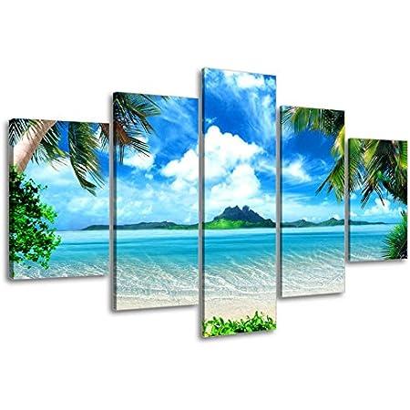 Coastal Art Tropical Wall D\u00e9cor Beach House Art Pineapple Wall Print Sea Sand Sun Wall Art Palm Tree Print Sea Beach Prints Posters
