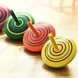 ZOEON 30 Stück Spielzeugkreisel aus Holz, Farbenfroher Bemalung Kreisel aus Holz für Kinder - 5