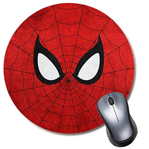 Round Gaming Mouse Pad Sup Spider, Computer Mousepad for Laptop and Desktop, Cute Funny Mouse Mat for Kid and Office Gift