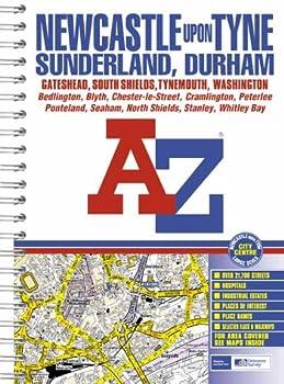 Spiral-bound A-Z Street Atlas of Newcastle-upon-Tyne, Sunderland and Durham Book