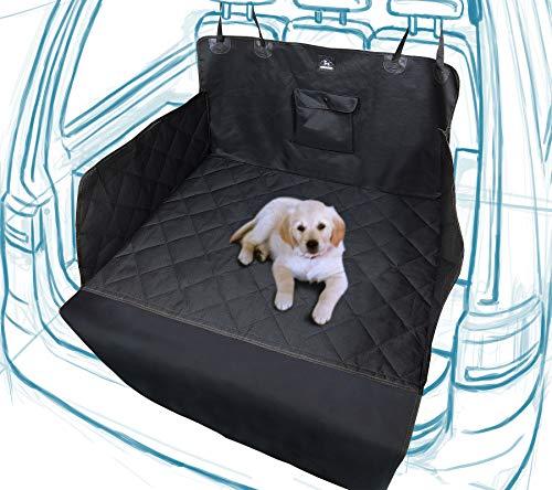 Dog Academy Premium Kofferraumschutz für Hunde | Komfortable, wattierte, wasserfeste, schmutzabweisende Autoschondecke (Version 2019+, universell schwarz)