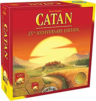 CATAN Board Game 25th Anniversary Edition | Includes The Base Game and The 5-6 Player Extension | Family Board Game | Board Game for Adults and Family | for 3 to 6 Players | Made by Catan Studio