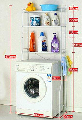 DNSJB in Europese stijl Drie-lagen wasmachine rek toilet rek badkamer rek badkamer vloer landing balkon