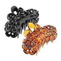 B Baosity 2個/パックレディーススリップなしプラスチックヘアリップクロージョースタイリングツール耐久性のあるアクセサリー