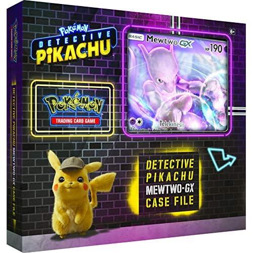 Pokémon POK80617 TCG: Detective Pikachu Mewtwo-GX - Cartella per custodie, colori assortiti