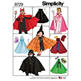 Simplicity 8729 Child's Cape Costume Sewing Pattern, 8 Pieces, Sizes S-L