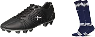 Vector X Velocity Football Shoes, Adult 6 UK (Black/Silver)