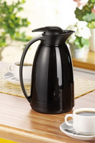 8x Isolierkanne LOFT 1,0 Liter, schwarz Thermoskanne, Thermosflasche